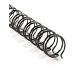 "3:1 Twin Loop Wire - 1/2"" Black - 100 Sheet Capacity - 100/box"
