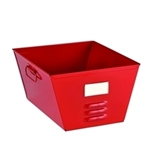 STEELMASTER Storage Tub with Locker Design, 7.5 x 12.43 x 11.44 Inches, Red (20610007)