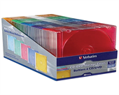 Verbatim Slim CD and DVD Storage Cases - 50 Pack