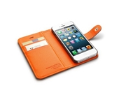 Acedepot Brand Leather Iphone 5 Side Flip Wallet Case - White
