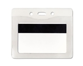 Advantus Vinyl Prepunched Security Badge ID Holders, Horizontal Style 50 Count (75411)