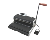 "Akiles Coilmac-ER 41+ Plus 13"" 4:1 Coil Binding Machine & Punch, Heavy Duty Oval Hole, Electric Inserter"