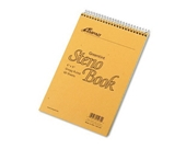 Ampad Spiral Steno Book, Gregg Rule, 6 x 9, Green Tint, 60 Sheets Per Notebook/Pack, (single)