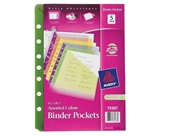 Avery Binder Pockets, Fits 3-Ring and 7-Ring Binders, Assort...