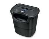 Black Shredder, Cross Cut, 6 Sheet Capacity Qty:2
