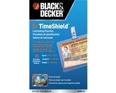 Black and Decker TimeShield Thermal Laminating Pouches, ID Badge with Clips, 5 mil - 10 Pack (LAMID5-10)