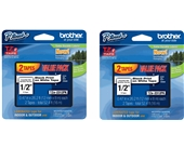 Brother Laminated Black On White Tape 2Pack (TZe2312PK) (4-PACK)