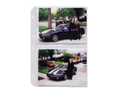 C-Line Clear 3-Hole Punched Photo Pages, Holds Four 5 x 7 Inch Photos, 11-1/4 x 8-1/2 Inches, 50 per Box (52572)