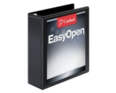 Cardinal by TOPS Products EasyOpen ClearVue Locking Slant-D Ring Presentation Binder, 3 Inch, Black
