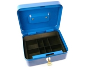 Classic Locking Steel Cash Box with Coin Tray