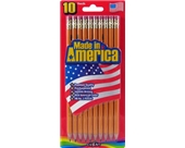 Cra-Z-art Made In America Pre-Sharpened No.2 Yellow Pencils, 10 Count (12001)
