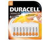 Duracell 1.4 Volt Zinc Air Hearing Aid Batteries Size 13 DA13B8 (8 Batteries)