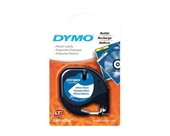 "DYMO Labeling Tape, LetraTag Labelers, Plastic, 1/2""x13', Black on White"