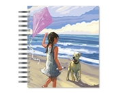 ECOeverywhere Girl With Kite Picture Photo Album, 18 Pages, Holds 72 Photos, 7.75 x 8.75 Inches, Multicolored (PA11677)