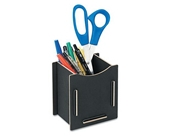Fellowes Earth Series Pencil Cup, 3 1/4 x 4 x 4 1/4, Black -...