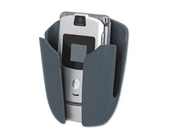 Fellowes Partition Additions Phone/MP3 Holster - Partition Additions Phone/MP3 Holster, Dark Graphite