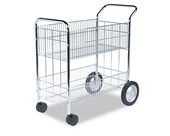 Fellowes Wire Mail Cart, 150-Folder Capacity, 18 x 38-1/2 x ...
