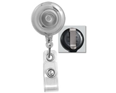 GBC BadgeMates Retractable Badge Reel, Clear, 25 Reels per Pack (3748085)
