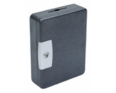 "Hercules KK0902-52 Key Locking Key Cabinet, Holds 52 Keys, 9"" x 3"" x 11.87"", Steel, Silver Vein"
