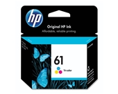 HP 61 CH562WN#140 Tri-Color Ink Cartridge in Retail Packaging