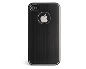 Kensington K39388US Aluminum Finish Case for iPhone 4 and 4S - 1 Pack - Retail Packaging - Black