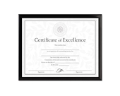 DAX Value U-Channel Document Frame with Certificates, 8.5 x 11 Inches
