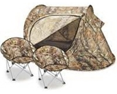Kids' Tent and 2 Chairs by Lucky Bums - Camouflage - Great for Camping or Playing Indoors & Outdoors