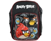 "Licensed Rovio Angry Birds 16"" Large School Backpack Black"