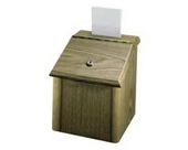 "Lorell : Suggestion Box, With Lock,7-3/4""x7-1/4""x9-3/4"", Medium Oak -:- Sold as 2 Packs of - 1 - / - Total of 2 Each"