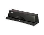 Master EP312 - 10-Sheet EP12 Electric/Battery Three-Hole Punch, 9/32 Diameter Hole, Charcoal