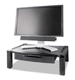 Extra Wide Adjustable Monitor/Laptop Stand - Single Level w/drawer