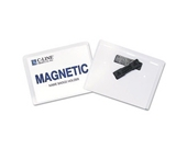 "Name Badge Holder Kits, Magnetic, Top Load, 3"" x4"", 20/BX"