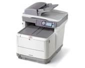 Okidata C3530N Color Laser Fax Copier Printer & Scanner with...