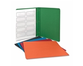 Oxford 52513 Panel and Border Leatherette Front Report Cover, Assorted Colors, 25 per Box