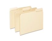Pendaflex Essentials File Folders, 1/3 Cut, Top Tab, Letter, Manila, 100 Per Box, (752 1/3)