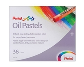 Pentel Arts Oil Pastels, 36 Color Set (PHN-36)