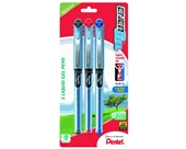 Pentel EnerGel NV Liquid Gel Pen, 0.5mm, Needle Tip, Assorted Ink, Pack of 3 (BLN25BP3M)