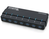 Plugable 7 Port USB 3.0 Hub with 4A Power Adapter (VIA VL812 Chipset and updated firmware v8581 with Linux, OS X, and Windows support and full USB 2.0 backwards compatibility)