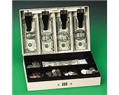 PMC04961 Combination Lock Steel Cash Box, 11-1/2w x 7-3/4d x 3-1/4h, Pebble Beige