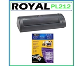 Royal PL-2112 12-Inch Hot Roller Laminating Machine + Laminating Pouches Assortment 3ml 130-Pack