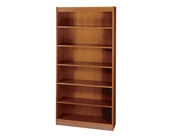 Safco 7-Shelf Square-Edge Veneer Bookcase, Cherry [Kitchen]