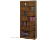 Safco 1506LOC Light Oak 7-Shelf Square-Edge Veneer Bookcase