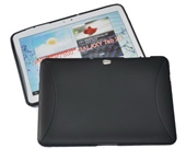 Samsung Galaxy Tab 2 10.1 tablet Case BLACK Softer Gel Cover Wrap Skin Sleeve