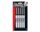 SAN37675 - Sharpie Permanent Marker, Ultra Fine Point, 5/PK, Assorted