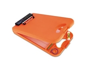 Saunders DeskMate II Plastic Storage Clipboard with Calculator, Letter Size 8.5 inch x 12 inch, Orange (00543)