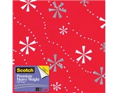 Scotch Gift Wrap, Snowflaked Stripes Pattern, 25-Square Feet...