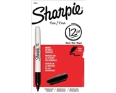 Sharpie Fine Point Permanent Markers, 12 Black Markers(30001)