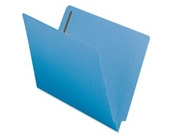 Smead End Tab Fastener File Folders, Letter Size, Straight Cut, Reinforced Tab, Blue, 50 Per Box (25040)