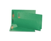 Smead End Tab Fastener Folder, Legal, Straight, Two 2-Inch Prong B Style #1 and #3 Fasteners, Green, 50 per Box (28140)