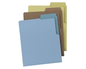 Smead Organized UP Heavyweight File Folders, Dual Tabs, Letter Size, Assorted Colors, 6 per Pack (75405)